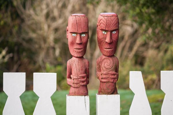 Nel villaggio dei Maori