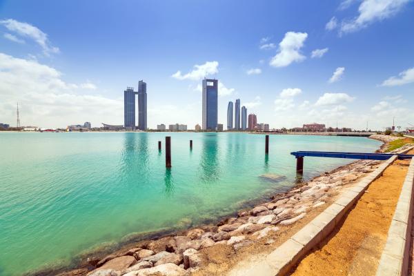 Abu Dhabi from the sea
