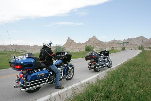 Due ruote sulle Badlands